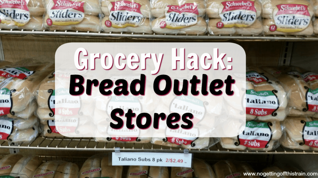 One way to save money on groceries is by visiting a bread outlet store! Here's what you can expect to find. www.nogettingoffthistrain.com