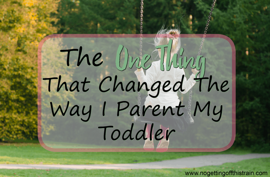If you have a stubborn toddler, here is one tip that completely changed the way I parent. (Almost) No more tears! www.nogettingoffthistrain.com