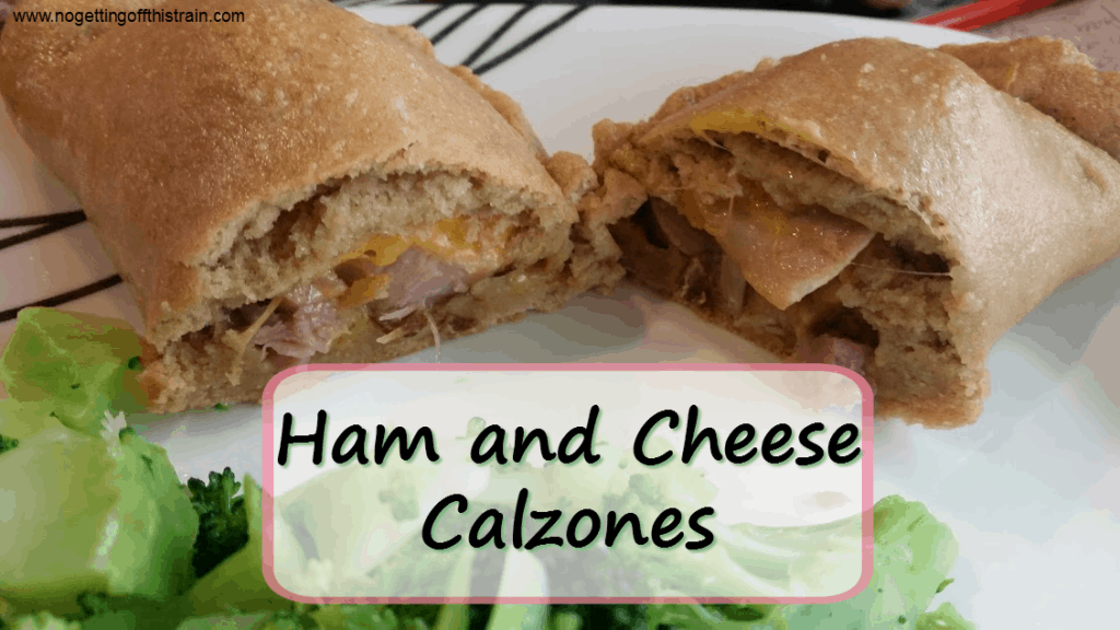 Ham and cheese calzones are an easy and delicious way to use up extra ham! www.nogettingoffthistrain.com