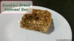 Zucchini Bread Oatmeal Bars