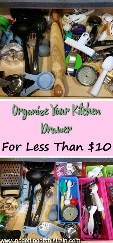 Is your kitchen drawer a disorganized mess? Here's one cheap way I organized my tool drawer for less than $10!