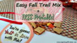 Easy Fall Trail Mix + Free Printable!