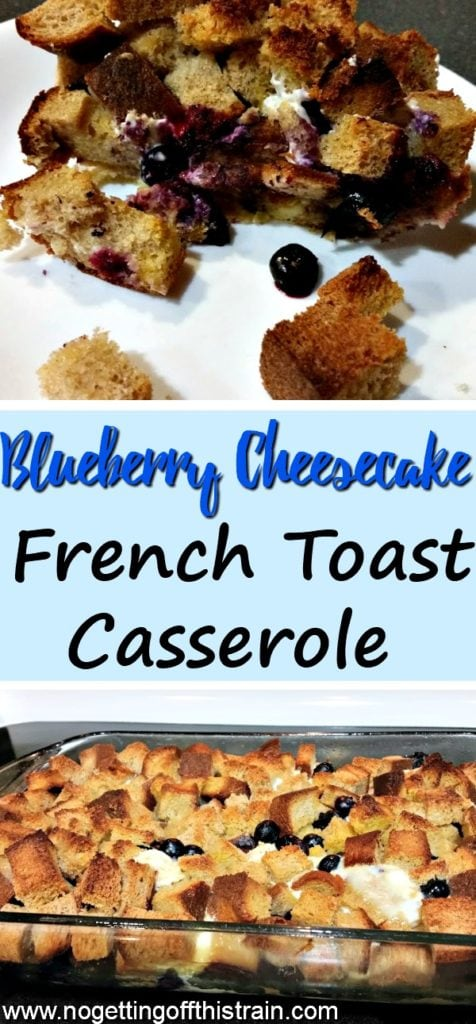 An easy, delicious breakfast that feeds a ton, this overnight blueberry cheesecake french toast casserole is sure to please! Great for busy mornings!