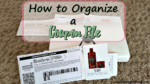 How to Organize a Coupon File