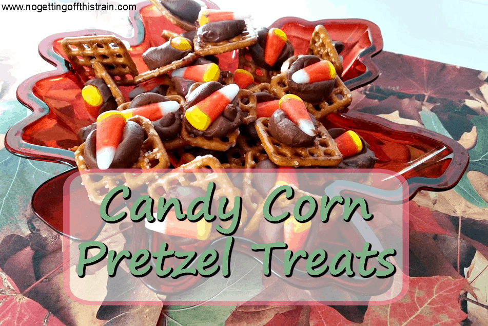 Candy Corn Pretzel Treats