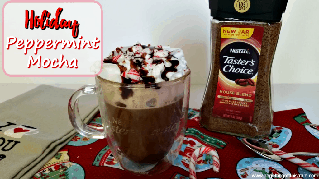 Just in time for the Christmas season! This Holiday Peppermint Mocha tastes just like what you'd find at a coffee shop! www.nogettingoffthistrain.com