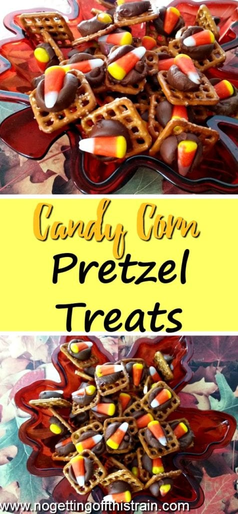 What a cute Fall treat idea! Candy Corn Pretzel Treats are a big hit at any party or get-together!