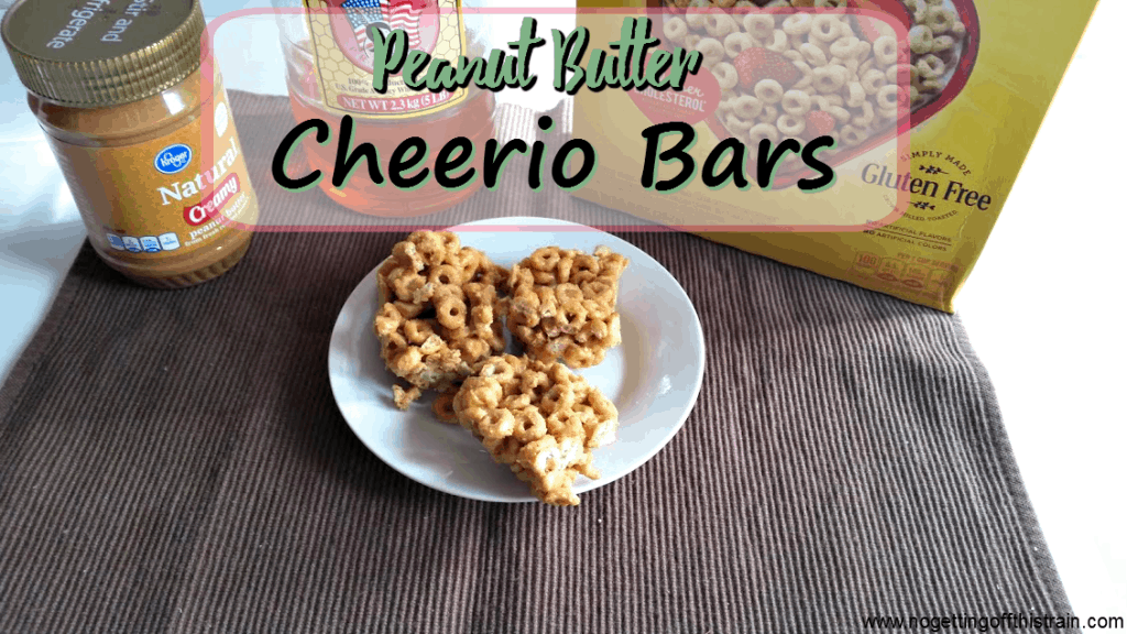 These simple Peanut Butter Cheerio bars have only 3 ingredients and are great for breakfast or snacks! www.nogettingoffthistrain.com