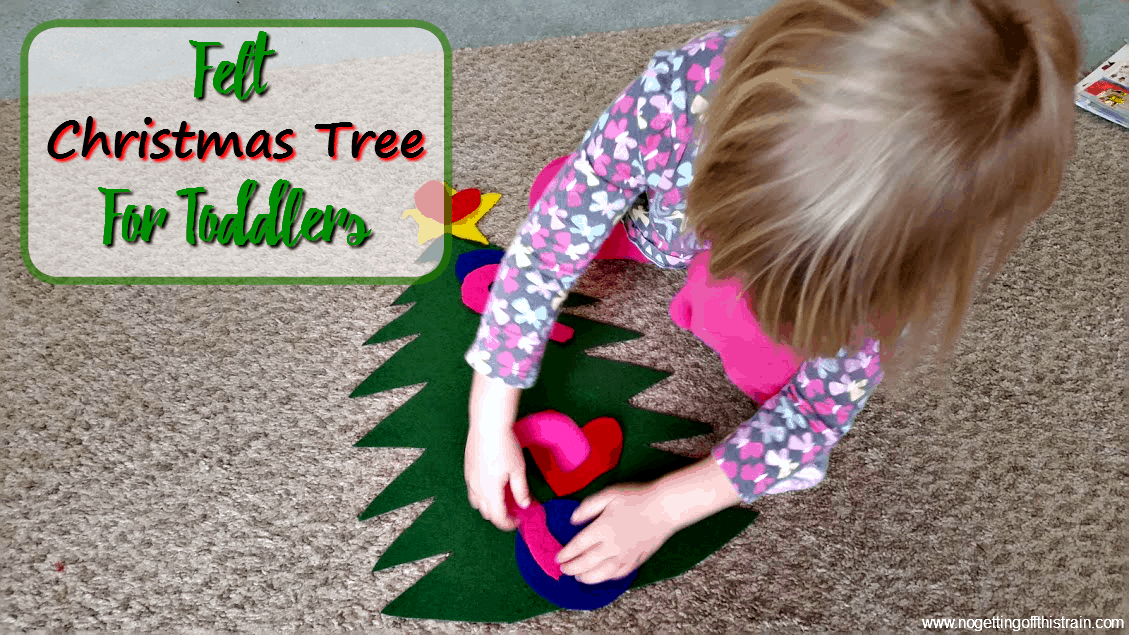 felt christmas tree for toddlers no getting off this train. Black Bedroom Furniture Sets. Home Design Ideas