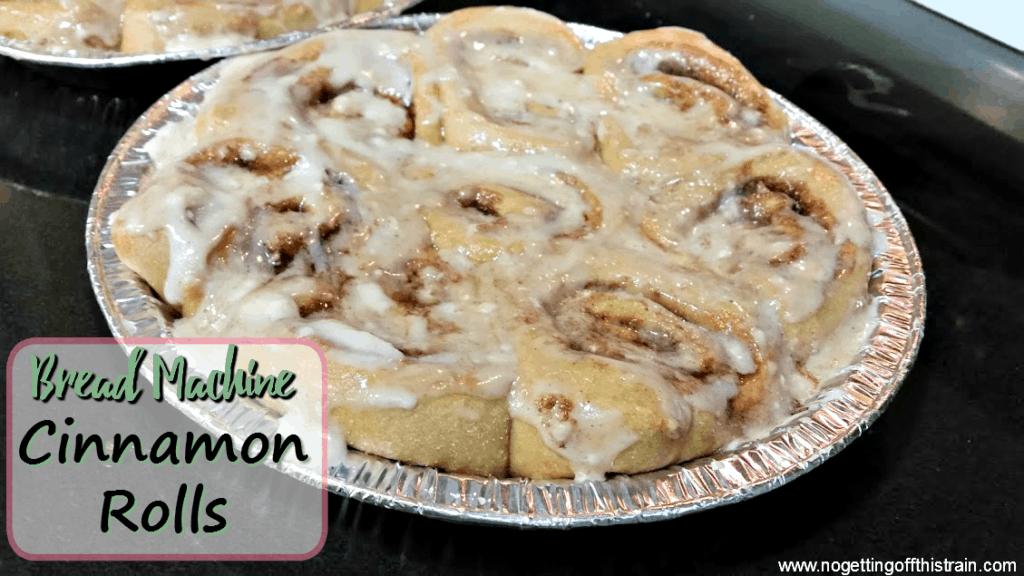 These bread machine cinnamon rolls are and easy and delicious breakfast! Great for Christmas morning! www.nogettingoffthistrain.com