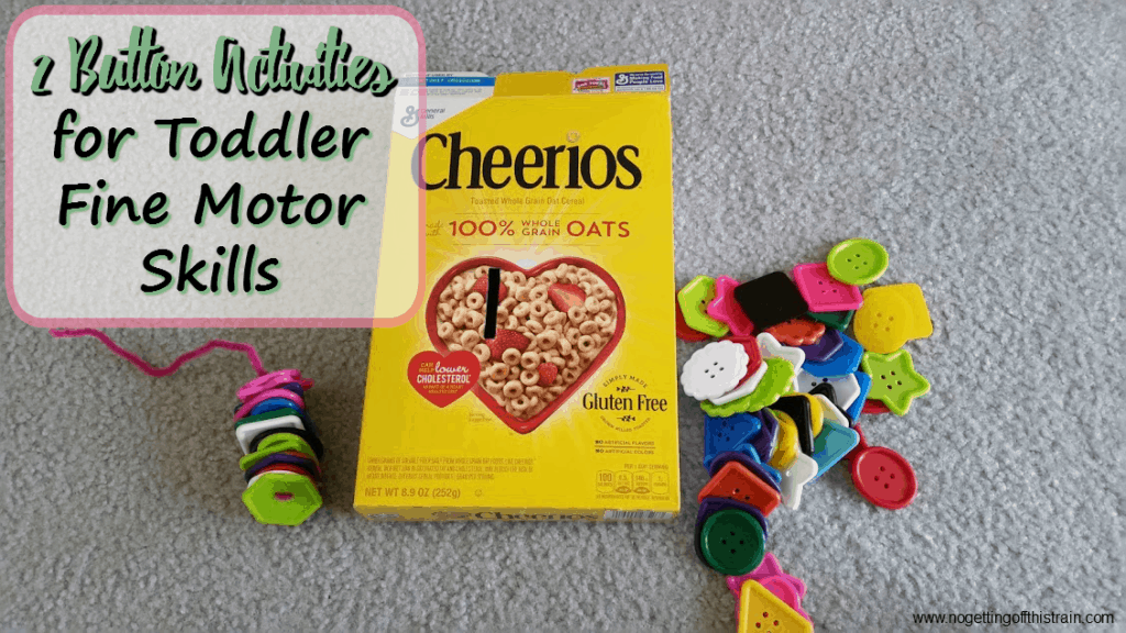Keep your toddler entertained with these 2 button activities for fine motor skills!