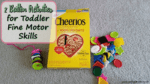 2 Button Activities for Toddler Fine Motor Skills
