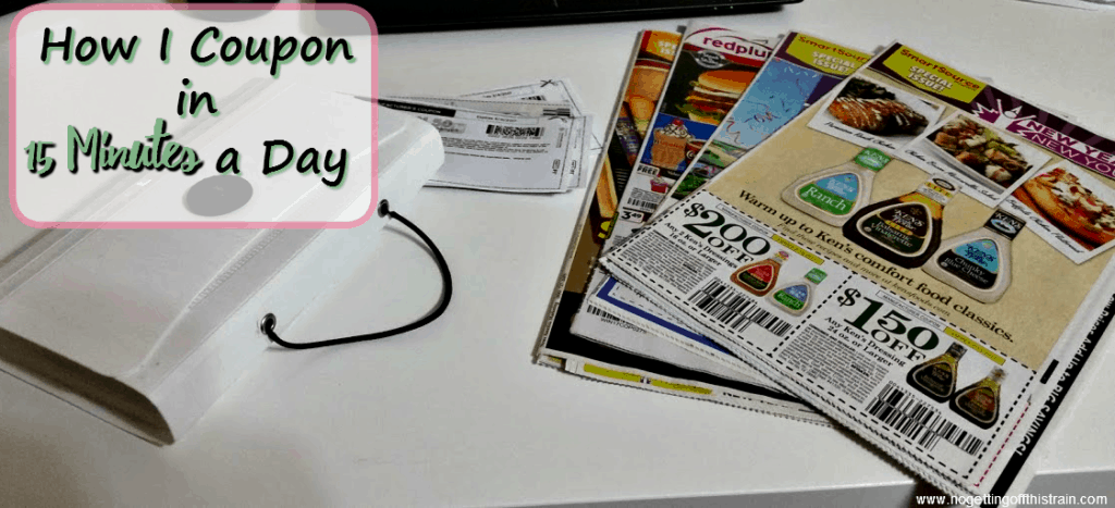 Do you want to coupon but feel like you have no time? Here's how I coupon in 15 minutes a day!