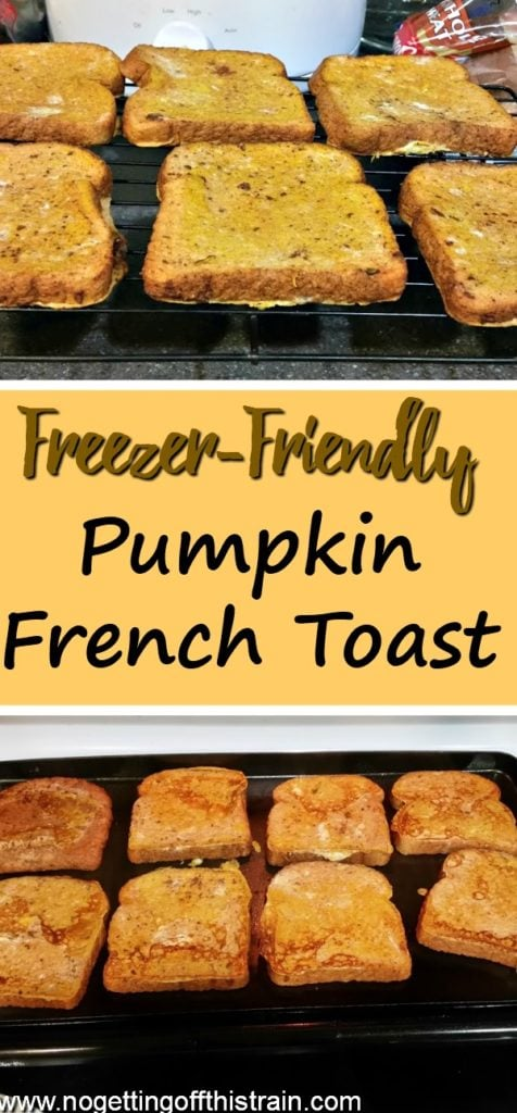 Need a quick and easy breakfast? Keep this pumpkin french toast in your freezer! A great freezer meal and toddler friendly.
