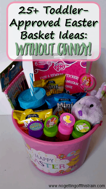 Toddler approved easter basket ideas no candy no getting off need help with your little ones easter basket here are 25 toddler easter basket negle Image collections