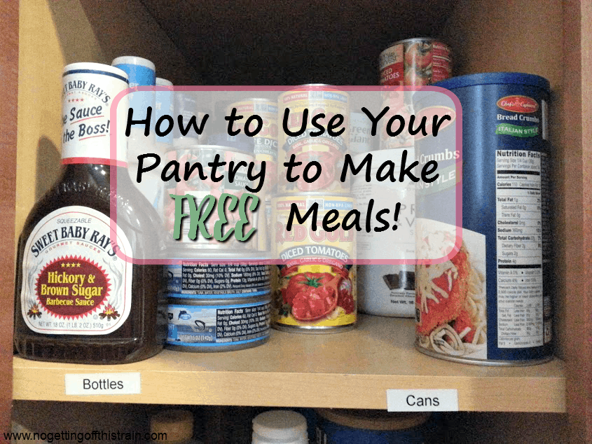 Do you want to fill and organize your food pantry? Here's how to use your pantry to make FREE meals and keep a low grocery budget!