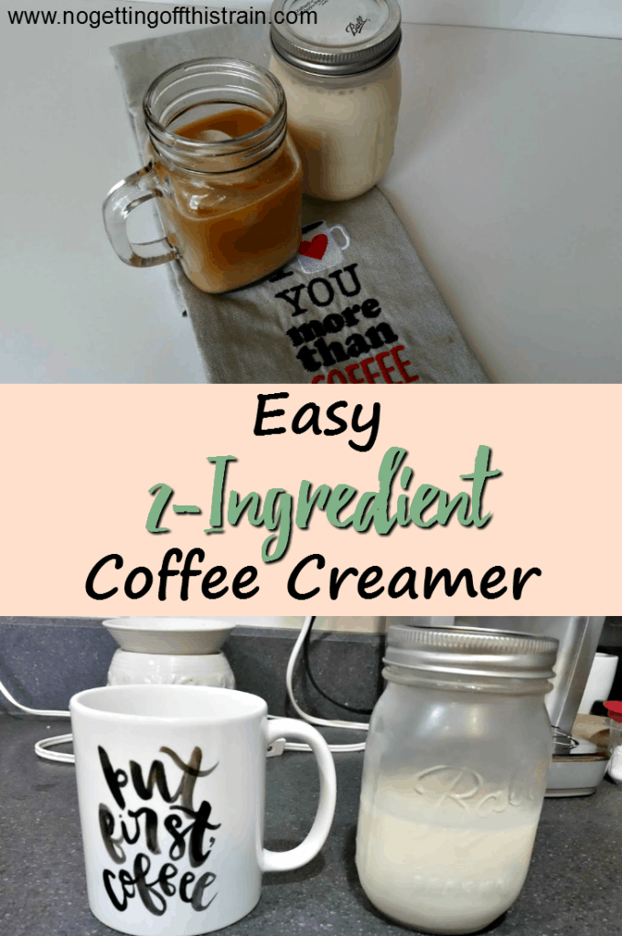Creamer is incredibly easy to make at home! This easy coffee creamer has only 2 ingredients and can easily be made into different flavors!