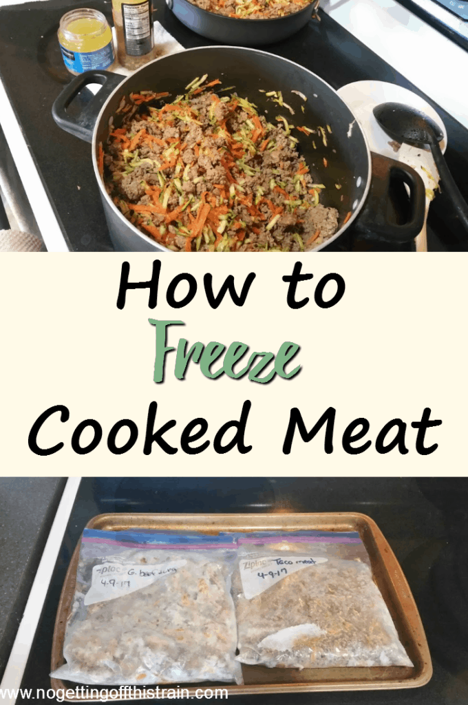 Do you struggle with the time it takes to cook dinner? Here's how to freeze cooked meat for quick dinners and less stress!