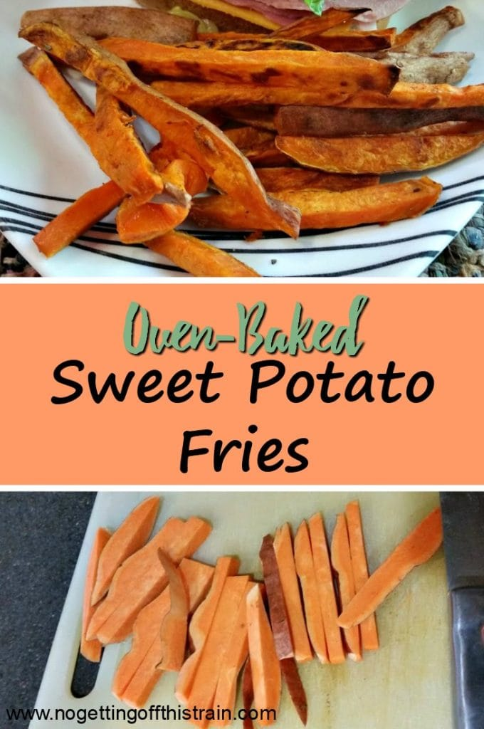 Looking for a fantastic side item? These oven-baked sweet potato fries are an easy and frugal side and are a huge hit at dinner!