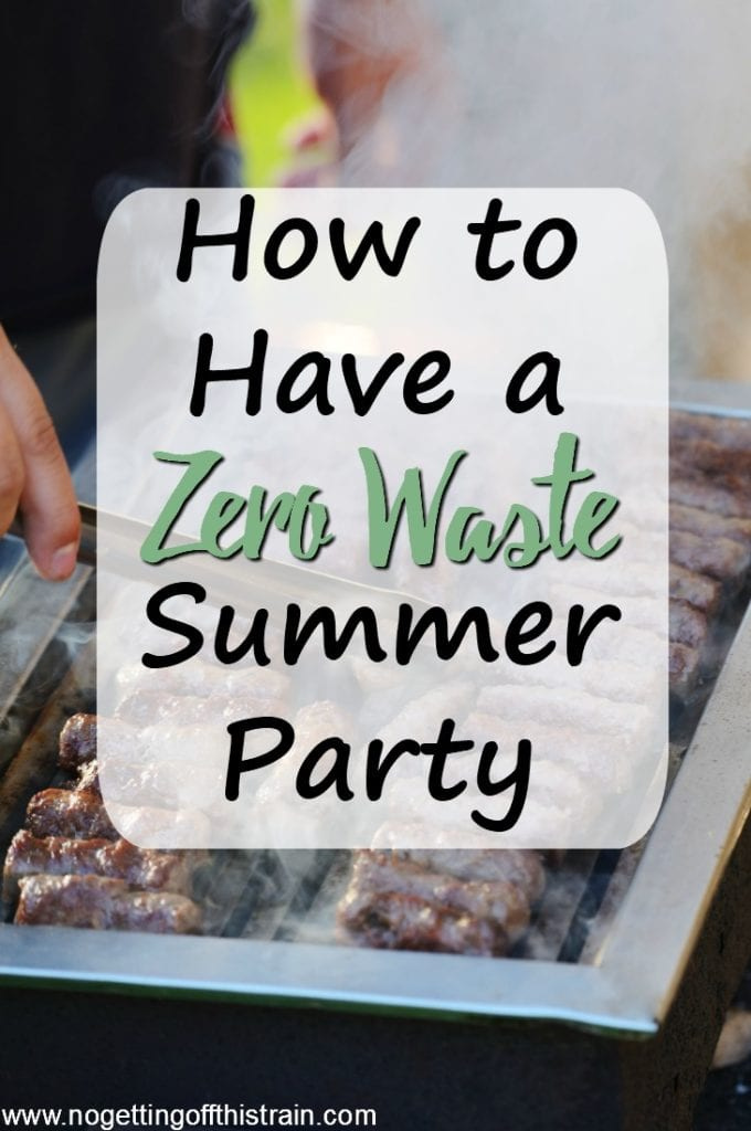 Save money on your summer cookouts with these tips for a zero waste summer party! No need to throw out extra food when you have a plan!