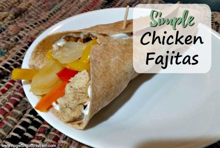 Simple Chicken Fajitas