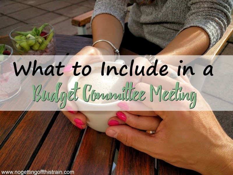 What to Include in a Budget Committee Meeting