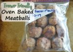 Freezer Friendly Oven Baked Meatballs