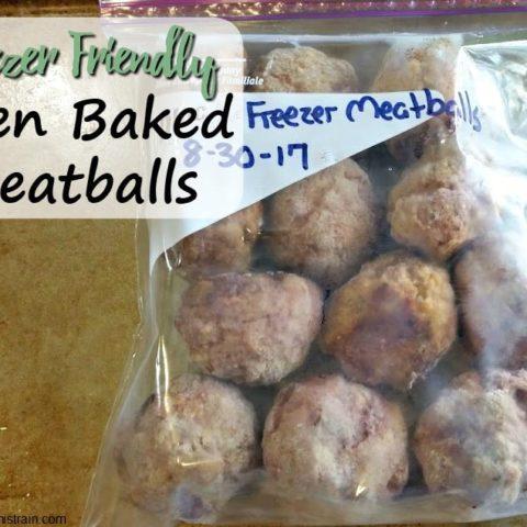 Freezer Friendly Oven Baked Meatballs