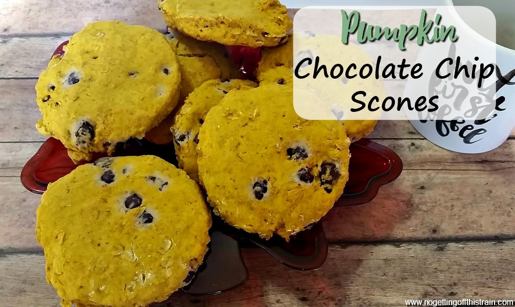 Good for breakfast, snacks, or afternoon coffee, these Pumpkin Chocolate Chip Scones make the perfect Fall treat in the colder weather!
