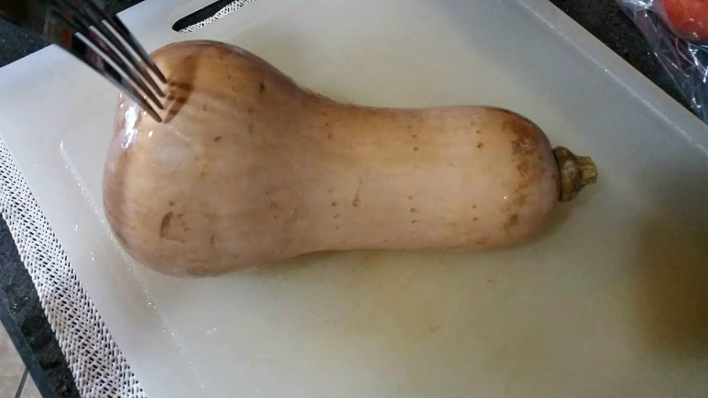 Don't be intimidated by squash! Here's how to cut a butternut squash- the easiest way ever, and much cheaper than buying pre-cut.