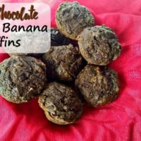 Double Chocolate Spinach Banana Muffins