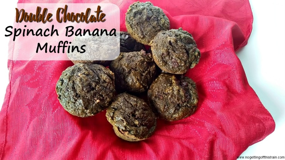 Looking for a kid friendly, healthy breakfast? These Double Chocolate Spinach Banana Muffins are good enough for dessert but healthy enough for breakfast!