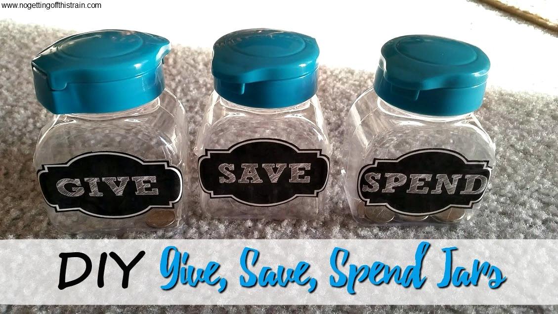 DIY Give, Save, Spend Jars for Kids