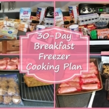 30 Day Breakfast Freezer Cooking Plan