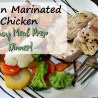 Italian Marinated Chicken- Easy Meal Prep Dinner