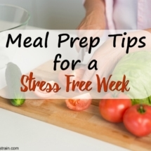 Meal Prep Tips for a Stress Free Week