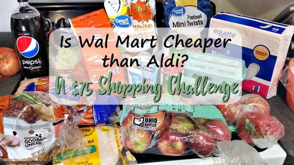 d80d0b40da9 Is Wal Mart Cheaper than Aldi  A  75 Shopping Challenge - No Getting ...