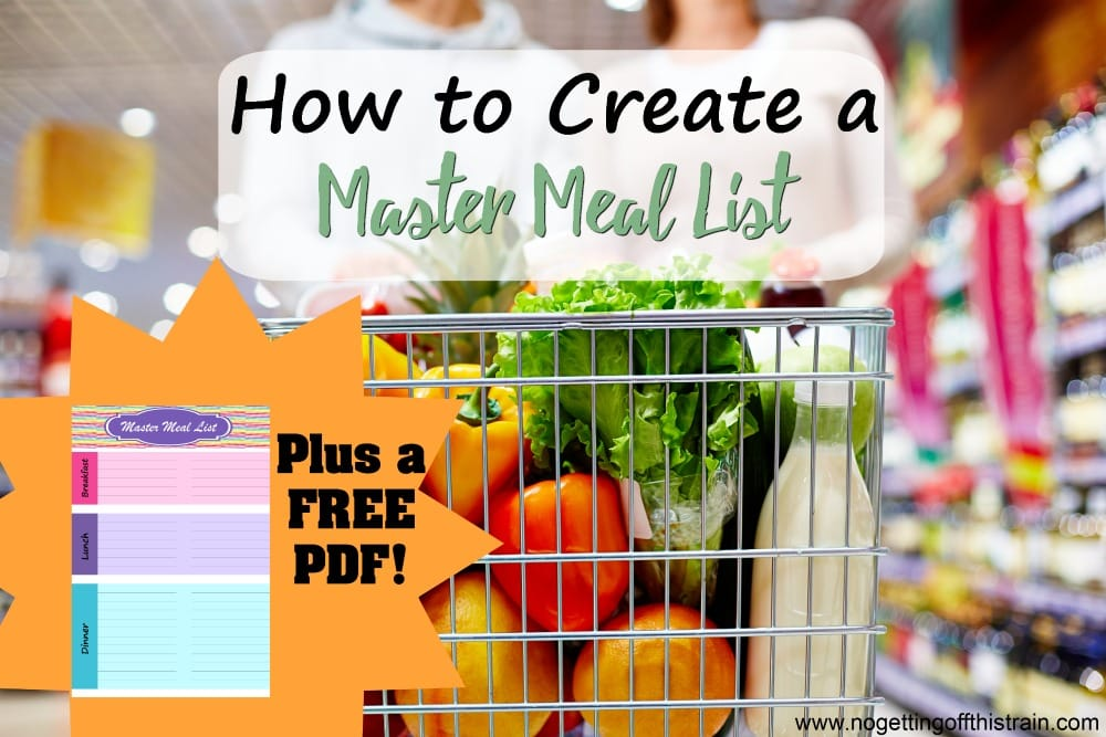Make your meal planning a lot easier by having a list of meals already written down! Here's how to create a Master Meal List to save time and money when it's time to meal plan.