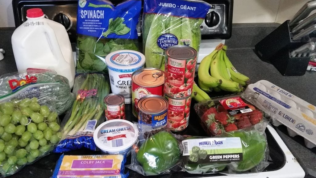 What should you buy during a pantry challenge? Here's a menu of frugal recipes and a $25 weekly shopping list! Week of: 3-5-18