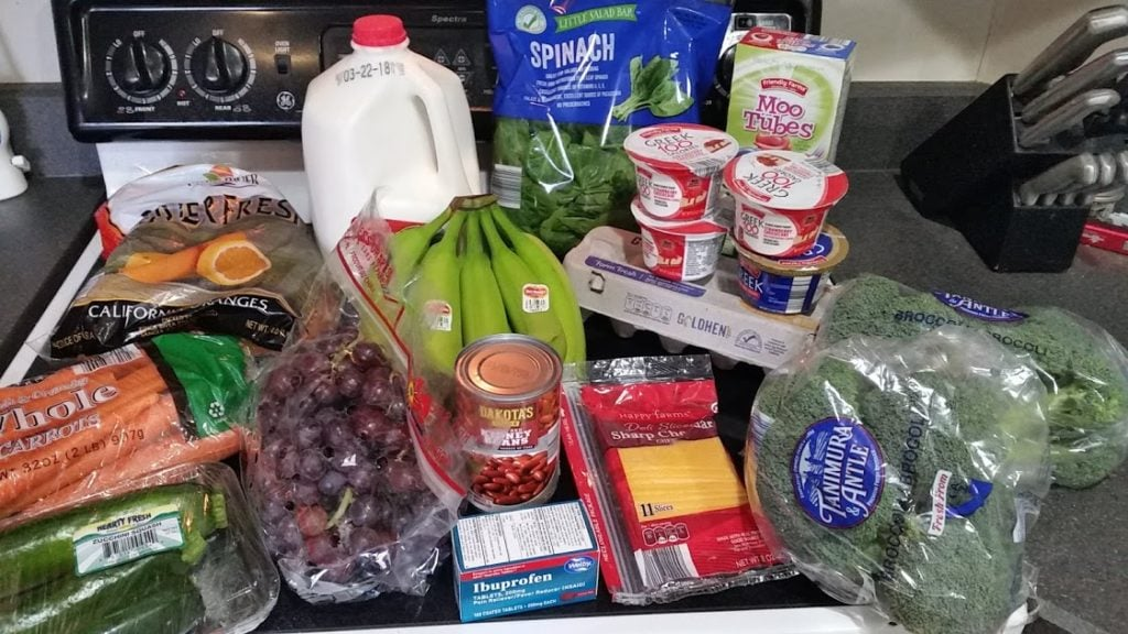 What should you buy during a pantry challenge? Here's a menu of frugal recipes and a $25 weekly shopping list! Week of: 3-12-18