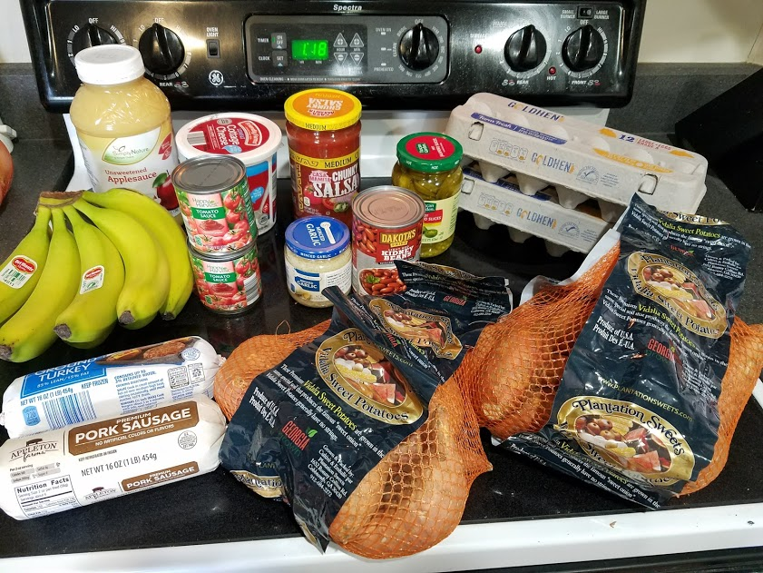 Meal plan, grocery list, and coupon deals for 4-9-18. Want to know what a family of 3 eats for $75 a week? Check back every Monday!
