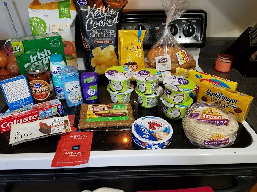 Meal plan, grocery list, and coupon deals for 4-23-18. Want to know what a family of 3 eats for $75 a week? Check back every Monday!