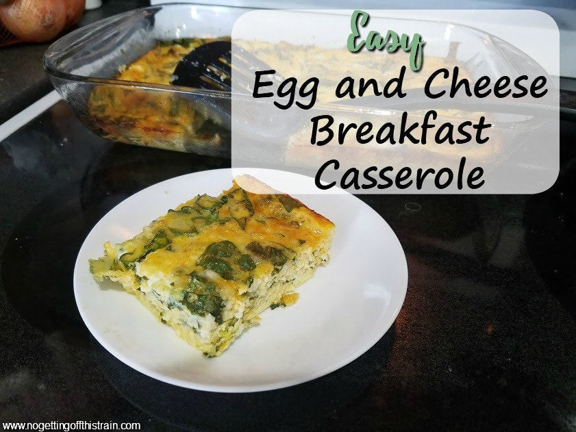 This Easy Egg and Cheese Breakfast Casserole is a one-bowl recipe that's high protein and quick to throw together! Makes a great meal prep recipe for the weekend!