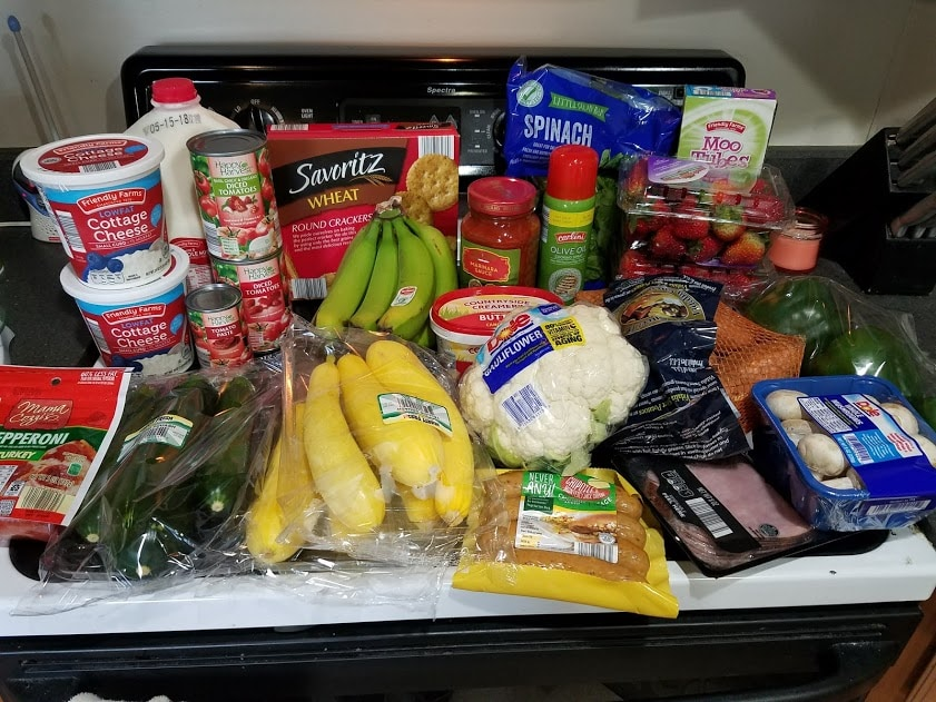 Meal plan, grocery list, and coupon deals for 5-7-18. Want to know what a family of 3 eats for $75 a week? Check back every Monday!