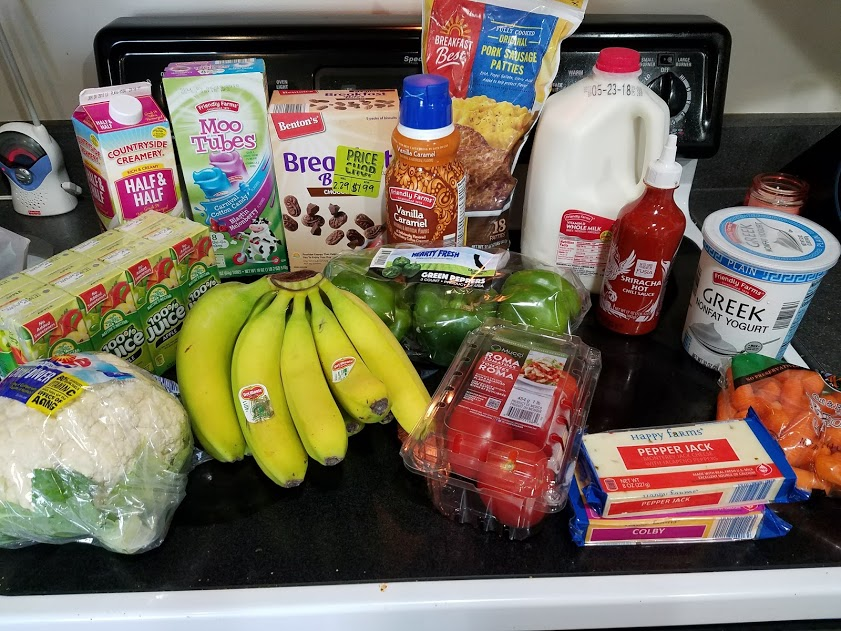 Meal plan, grocery list, and coupon deals for 5-14-18. Want to know what a family of 3 eats for $75 a week? Check back every Monday!