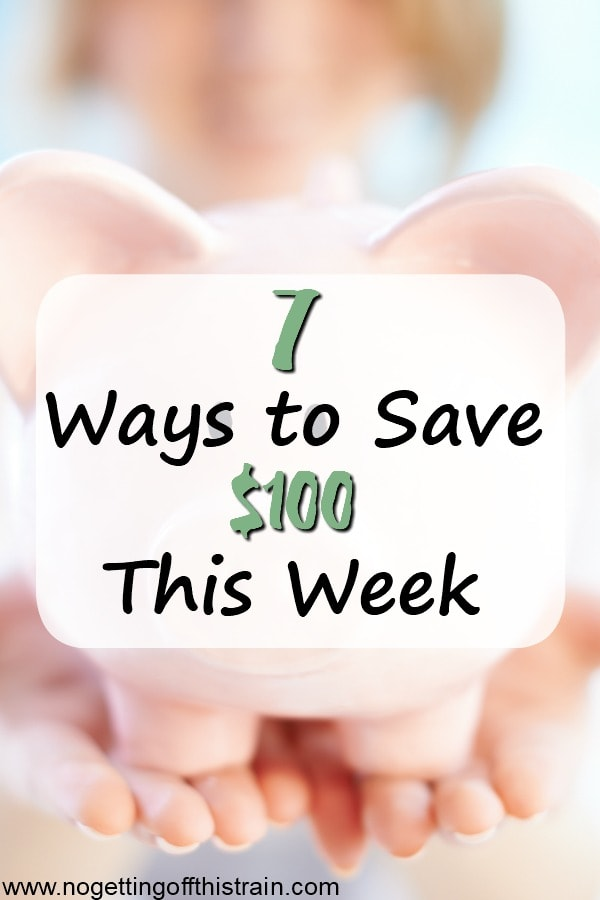 Trying to save up some money? Here are 7 ways you can save 100 dollars this week- with food, entertainment, and shopping! #frugal #save #money