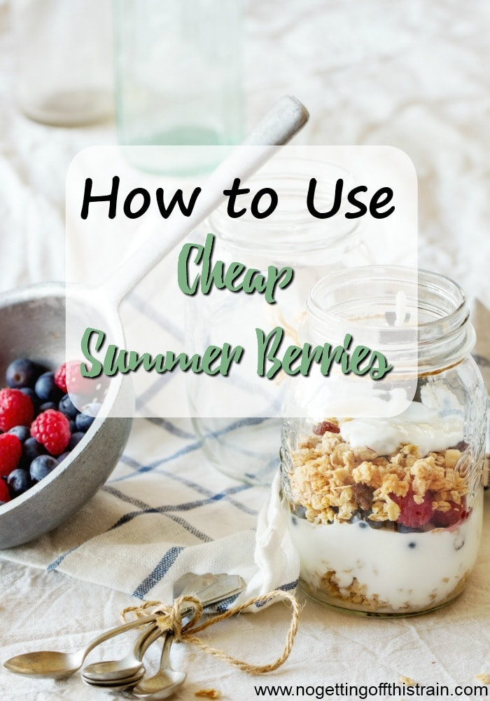 Do you buy lots of berries in the summer and then don't know what to do with it all? Here are some easy ways to use those cheap summer berries for any meal of the day to avoid food waste!
