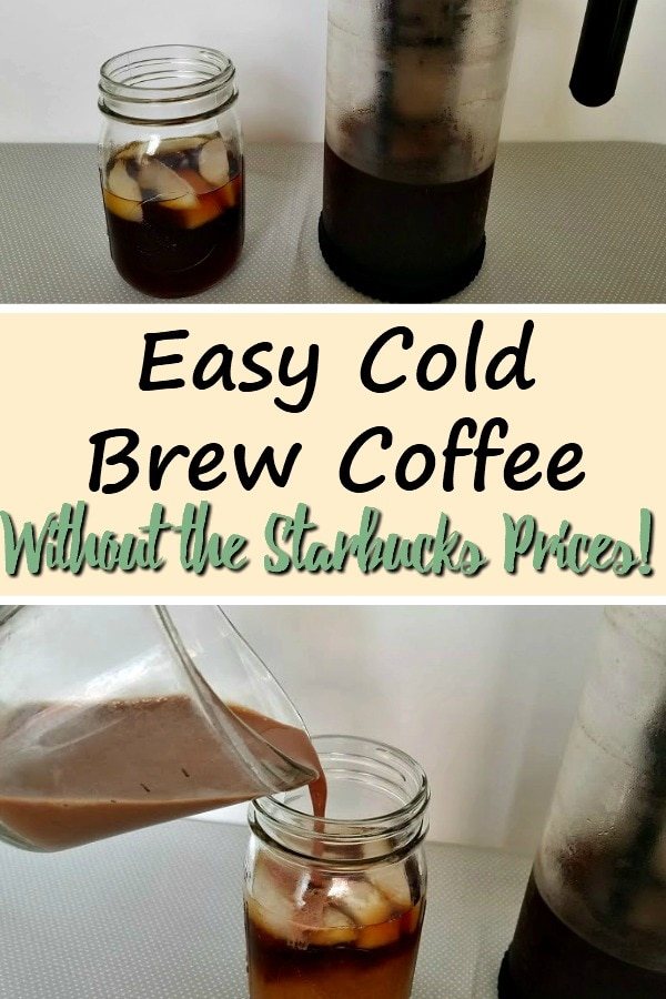 Don't pay Starbucks prices every day for what you can make at home! This recipe for Easy Cold Brew Coffee will satisfy your coffee cravings for a much cheaper price.