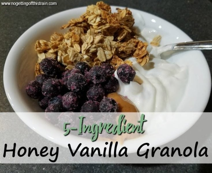 5-Ingredient Honey Vanilla Granola