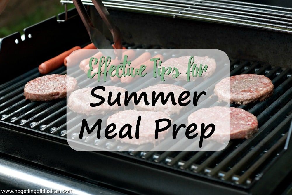 When it's too hot to cook, use these tips for Summer meal prep to keep yourself and your house cool and save time and money!